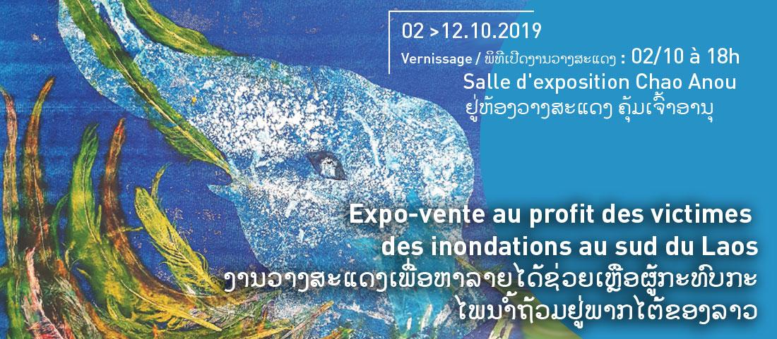 Expo-vente au profit des victimes  des inondations au sud du Laos