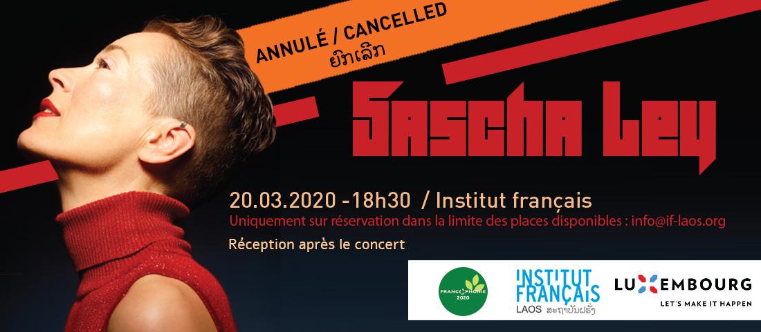 Annulation du concert de Sascha Ley à Luang Prabang et à Vientiane (report en novembre à confirmer)