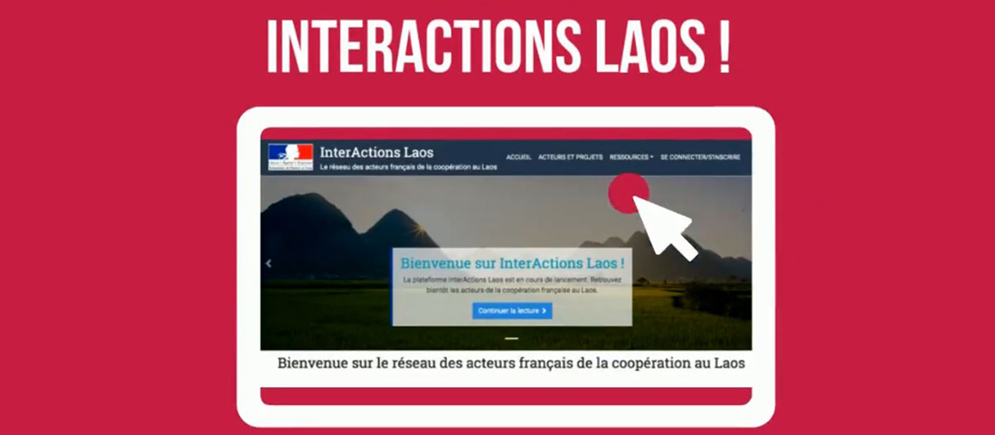 Lancement plateforme InterActions Laos