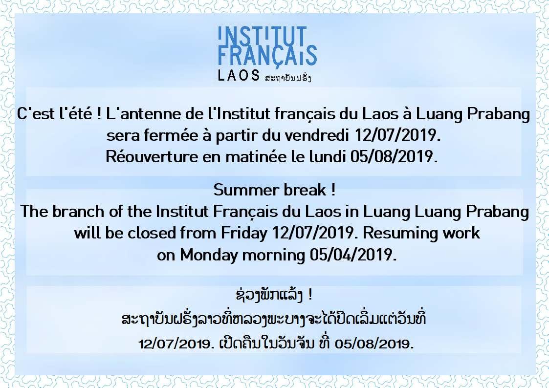 Fermeture IFL - Luang Prabang